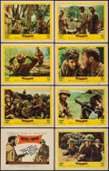 "Movie Posters:War, Men in War (United Artists, 1957). Lobby Card Set of 8 (11"" X 14"").War.. ... (Total: 8 Items)"