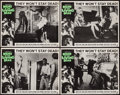"""Movie Posters:Horror, Night of the Living Dead (Continental, 1968). Lobby Cards (4) (11"""" X 14""""). Horror.. ... (Total: 4 Items)"""