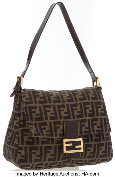 118cd4a02550 Fendi Classic Monogram Zucca Canvas Mama Baguette with