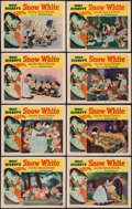"Movie Posters:Animation, Snow White and the Seven Dwarfs (RKO, R-1951). Lobby Card Set of 8(11"" X 14""). Animation.. ... (Total: 8 Items)"