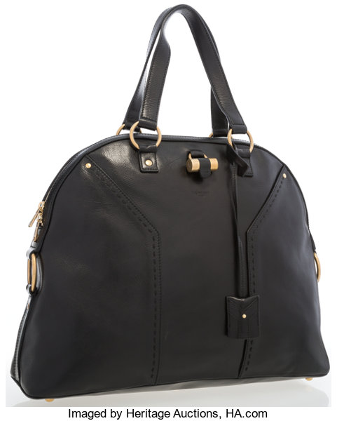 58d6a557883 Very Good toExcellent; Luxury Accessories:Bags, Yves Saint Laurent Black  Leather Muse Bag.