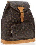 "Luxury Accessories:Bags, Louis Vuitton Classic Monogram Canvas Montsouris MM Backpack Bag.Good Condition. 12"" Width x 14"" Height x 4.5""Depth,..."