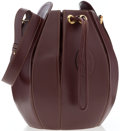 """Luxury Accessories:Accessories, Cartier Burgundy Leather Drawstring Bag. Very Good to Excellent. 7"""" Width x 10"""" Height x 7"""" Depth. ..."""