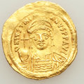 Ancients:Byzantine, Ancients: Justinian I the Great (AD 527-565). AV solidus (4.38gm)....
