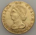 Colombia, Colombia: Republic gold 8 Escudos 1833 NR-RS XF Cleaned,...