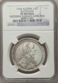 Austria, Austria: Batthyani. Karl 1/2 Taler 1764 XF Details (Excessive Surface Hairlines) NGC,...