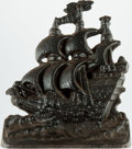 Books:Furniture & Accessories, [Bookends]. Single Cast Iron Bookend Depicting the Sailing Ship.Unmarked, undated. ...
