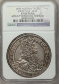 Austria, Austria: Leopold I Taler 1698 XF Details (Mount Removed Tooled) NGC,...