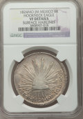 Mexico, Mexico: Republic 8 Reales 1824 Mo-JM VF Details (Surface Hairlines)NGC,...