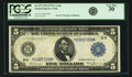 Fr. 873 $5 1914 Federal Reserve Note PCGS Very Fine 30