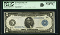 Fr. 874 $5 1914 Federal Reserve Note PCGS Choice About New 55PPQ