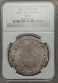 Mexico, Mexico: Revolutionary. Zacatecas 8 Reales 1811 VF20 NGC,...