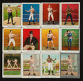 "Boxing Cards:General, 1910 T220 Mecca ""Boxing"" Complete Set (50) With Rare Tolstoi Backand Silver Variation. ..."