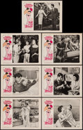 """Movie Posters:Foreign, Love on the Riviera (Ultra Pictures, 1964). Lobby Cards (7) (11"""" X 14"""") & Ad Template (9.25"""" X 12.5""""). Foreign.. ... (Total: 8 Items)"""