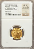 Ancients:Byzantine, Ancients: Heraclius (AD 613-641). AV solidus (4.40 gm)....