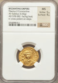 Ancients:Byzantine, Ancients: Tiberius II Constantine (AD 578-582). AV solidus (4.46gm)....
