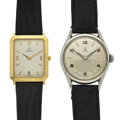 Timepieces:Wristwatch, Two Omega Gent's Steel & A 14k Wristwatches. ... (Total: 2Items)