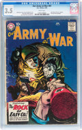 Silver Age (1956-1969):War, Our Army at War #81 (DC, 1959) CGC VG- 3.5 White pages....