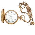 Timepieces:Pocket (post 1900), Waltham 18 Size Gold Filled Pocket Watch. ...