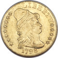Early Half Eagles, 1798 $5 Large Eagle, Small 8, BD-6, R.6, MS61 NGC....
