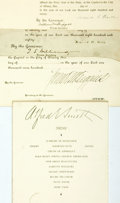 "Autographs:Statesmen, [New York Governors]. Four Signatures including: Frank W. HigginsClipped Signature. 9.75"" x 3.25"". Served from 1905-190..."