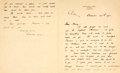 """Autographs:Artists, American Artist Rockwell Kent Autograph Letter Signed. Two pages of a bifolium, 5.5"""" x 6.5"""", on his personal letterhead, Win..."""