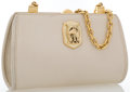 "Kiselstein Cord Beige Leather Clutch with Gold Hardware Good Condition 8.5"" Width x 4.5"" Height x 2.5 Depth, 2..."