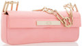 """Luxury Accessories:Bags, Escada Pink Lizard Clutch Bag with Gold Hardware. Very GoodCondition . 9.5"""" Width x 4"""" Height x 1.5"""" Depth, 5""""Handle..."""