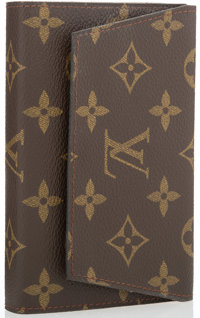 "Louis Vuitton Classic Monogram Canvas Playing Card Case Very Good Condition 5.5"" Width x 3.5"" Hei"