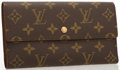 "Luxury Accessories:Accessories, Louis Vuitton Classic Monogram Canvas Porte Tresor Wallet . VeryGood to Excellent Condition . 7.5"" Width x 4"" Height x .5..."