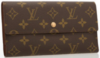 "Louis Vuitton Classic Monogram Canvas Porte Tresor Wallet Very Good to Excellent Condition 7.5"" Width x 4"""