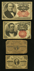 Fractional Currency:Third Issue, 41¢ Face.. ... (Total: 4 notes)