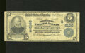 "National Bank Notes:Kentucky, Mount Sterling, KY - $5 1902 Plain Back Fr. 608 The Montgomery NBCh. # (S)6160. This so-called ""Fourth Charter"" note be..."