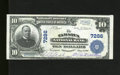 National Bank Notes:Pennsylvania, Tamaqua, PA - $10 1902 Plain Back Fr. 624 The Tamaqua NB Ch. #7286. Like new paper surfaces are noted on this example w...