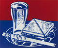Post-War & Contemporary:Pop, Roy Lichtenstein (American, 1923-1997). Sandwich and Soda(from Ten Works by Ten Painters), 1964. Screenprint incol...