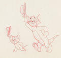 Animation Art:Production Drawing, Tom and Jerry Animation Drawing (MGM, 1940s-50s)....