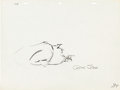 Animation Art:Production Drawing, Cat Feud Animation Layout Drawing (Warner Brothers,1958)....