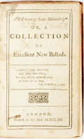 Books:Literature Pre-1900, [Humor]. A Pill to Purge State-Melancholy. Or A Collection ofExcellent New Ballads. London: [A. Boulter?], 1715. ...