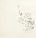 Animation Art:Production Drawing, Mickey's Surprise Party Mickey Mouse Animation Drawing (Walt Disney, 1939)....