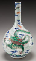 Asian:Chinese, A CHINESE PORCELAIN BOTTLE VASE, 20th century. Marks:(six-character mark). 15-1/2 inches high (39.4 cm). ...