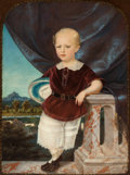 Paintings, BRITISH SCHOOL (19th Century). Child on Balcony. Oil on canvas. 40 x 30 inches (101.6 x 76.2 cm). PROPERTY FROM THE ES...