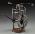 Decorative Arts, Continental, AN ITALIAN IRON MECHANICAL SPIT, circa 1550. 12-7/8 inches (32.7cm). ... (Total: 2 Items)