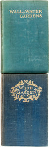 Books:Natural History Books & Prints, Gertrude Jekyll. Wood and Garden. London: Longmans, Green, and Co, 1899. Third Edition. [and:] Wall and Wate... (Total: 2 Items)