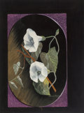 Fine Art - Painting, American:Modern  (1900 1949)  , E. McKnight Kauffer (American, 1890-1954). Morning Glories,1930. Gouache on board. 12 x 9 inches (30.5 x 22.9 cm) (sigh...