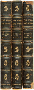 Books:Literature Pre-1900, J. Fenimore Cooper. The Jack O' Lantern; (Le Feu-Follet;) or,the Privateer. London: Richard Bentley, 1842. Thre... (Total: 3Items)