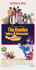 "Movie Posters:Animation, Yellow Submarine (United Artists, 1968). Flat-Folded Three Sheet(41"" X 80"").. ..."