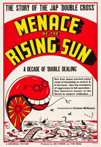"Menace of the Rising Sun (Universal, 1942). One Sheet (28.25"" X 41"") Style B"