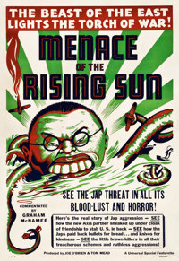 "Menace of the Rising Sun (Universal, 1942). One Sheet (28"" X 41"") Style A"