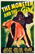 "Movie Posters:Horror, The Monster and the Girl (Paramount, 1941). One Sheet (27"" X 41"")....."