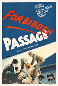 """Crime Does Not Pay: Forbidden Passage (MGM, 1942). One Sheet (27"""" X 41"""")"""